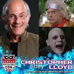Christopher Lloyd Signed Autograph Back To The Future 2 1989 ORIGINAL POSTER