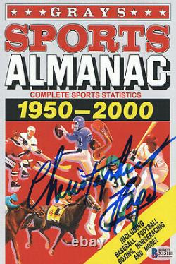 Christopher Lloyd Signed Autograph Grays Almanac Back To The Future Beckett 6