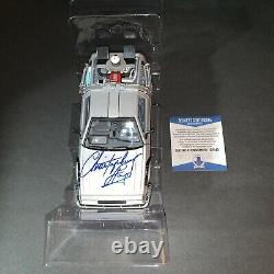 Christopher Lloyd Signed Back To The Future 124 Delorean Time Machine Car BAS