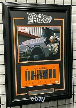 Christopher Lloyd Signed Back To The Future 2 License Plate Framed Beckett Bas