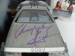 Christopher Lloyd Signed Back To The Future DeLorean 124 Scale Diecast JSA COA