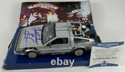 Christopher Lloyd Signed Back To The Future DeLorean Diecast Car BAS COA