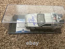 Christopher Lloyd Signed Back To The Future DeLorean Diecast Car Beckett COA