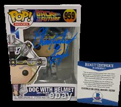 Christopher Lloyd Signed Back To The Future Doc Brown Funko Figure 959 Bas B