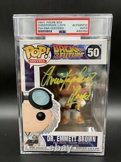 Christopher Lloyd Signed Back To The Future Funko Pop #50 PSA/DNA COA A162050