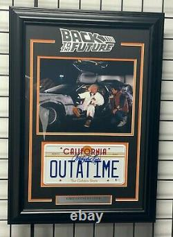 Christopher Lloyd Signed Back To The Future License Plate Framed Beckett Bas