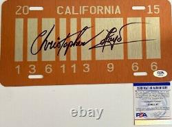 Christopher Lloyd Signed Back To The Future License Plate PSA AI62107