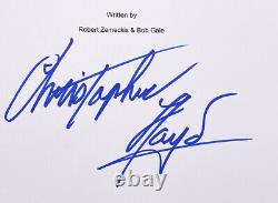 Christopher Lloyd Signed Back To The Future Movie Script JSA ITP