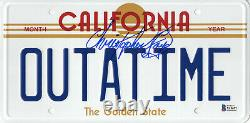 Christopher Lloyd Signed Back To The Future Outatime License Plate Beckett 218