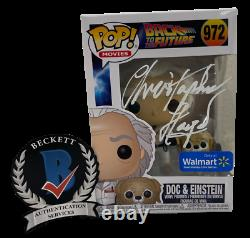 Christopher Lloyd Signed Back To The Future Pop Funko 972 Exclusive Beckett A