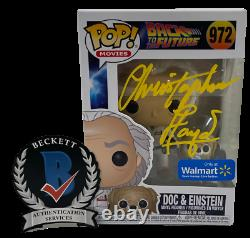 Christopher Lloyd Signed Back To The Future Pop Funko 972 Exclusive Beckett C