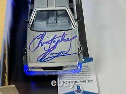 Christopher Lloyd Signed Back to the Future 124 Delorean Autograph Beckett COA