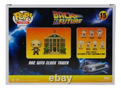Christopher Lloyd Signed Back to the Future Clock Tower #15 Funko Pop JSA ITP