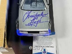 Christopher Lloyd Signed Back to the Future Delorean Autograph Beckett BAS COA