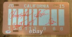 Christopher Lloyd Signed Great Scot Back To The Future License Plate Psa/dna Coa