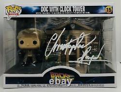 Christopher Lloyd Signed Pop Funko Figure Back To The Future Doc Clock Tower Jsa