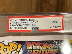 Christopher Lloyd Signed Roads. ! Back To Future Doc Funko POP 959 PSA/DNA COA