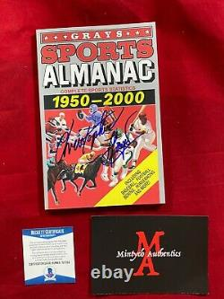 Christopher Lloyd Signed Sports Almanac! Back To The Future! Beckett Coa