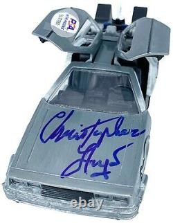 Christopher Lloyd autograph signed 124 Diecast Delorean Back to the Future PSA