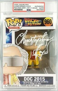 Christopher Lloyd autographed Funko Pop 960 Back To The Future PSA Encapsulated