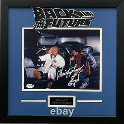 Christopher Lloyd autographed framed 8x10 Back To The Future PSA COA Doc Brown
