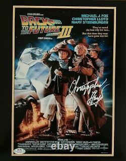 Christopher Lloyd autographed signed 11x14 Back To The Future PSA COA Doc Brown