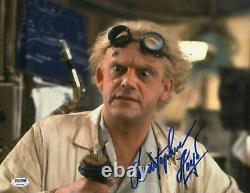 Christopher Lloyd signed Back to the Future Doc 11x14 autographed Photo PSA COA