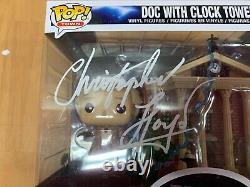 Funko Pop Signed Christopher Lloyd Back to the Future Doc Clock TowerJSA