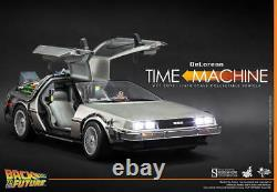 Hot Toys MMS260 16 Scale SIGNED Back to The Future Time Machine Delorean
