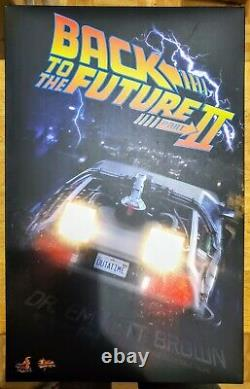 Hot Toys MMS380 Back To The Future II 2 Dr. Emmett Brown Christopher Lloyd RARE