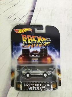Hot Wheels Back To The Future DeLorean Christopher Lloyd Doc Brown Signed Car