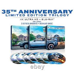 Limited Back To The Future The Ultimate Trilogy Triple 4k Uhd Steelbook Blu-ray
