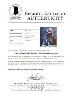 MICHAEL J FOX CHRISTOPHER LLOYD SIGNED 8x10 PHOTO BACK TO THE FUTURE BECKETT BAS