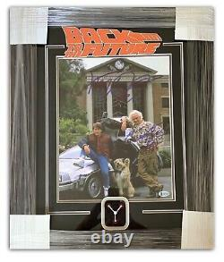 MICHAEL J FOX CHRISTOPHER LLOYD SIGNED BACK TO THE FUTURE 11x14 FRAMED PHOTO BAS