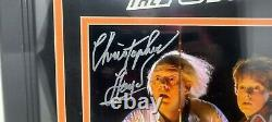 MICHAEL J FOX, CHRISTOPHER LLOYD Signed 8x10 Photo BACK TO THE FUTURE BAS Framed