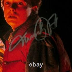 MICHAEL J FOX & CHRISTOPHER LLOYD Signed BACK TO THE FUTURE 11x14 Photo BAS