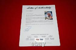 MICHAEL J FOX CHRISTOPHER LLOYD signed 11x14 PSA/DNA letter back to the future 4
