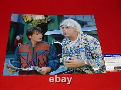 MICHAEL J FOX CHRISTOPHER LLOYD signed PSA/DNA 11x14 back to the future 2