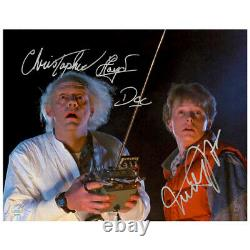 Michael J. Fox, Christopher Lloyd Autographed Back to the Future 11x14 Photo