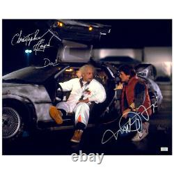 Michael J. Fox, Christopher Lloyd Autographed Back to the Future 16x20 Photo