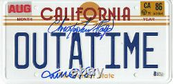 Michael J Fox Christopher Lloyd Back To The Future Autographed Plate Beckett