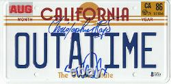 Michael J Fox Christopher Lloyd Back To The Future Autographed Plate Beckett 2