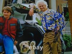 Michael J Fox & Christopher Lloyd Back To The Future Genuine Signed Autographs