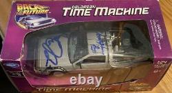 Michael J Fox Christopher Lloyd Back To The Future Signed Delorean Car Psa Coa
