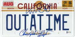 Michael J Fox Christopher Lloyd Back To The Future Signed License Plate Bas 8