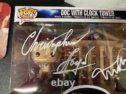 Michael J Fox Christopher Lloyd Dual Signed Funko Pop JSA Back to the Future