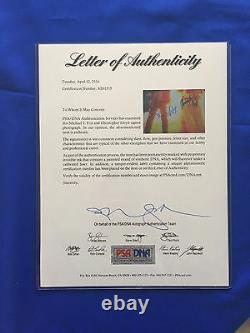 Michael J Fox Christopher Lloyd Hand Signed Back To The Future 16x20 PSA/DNA COA