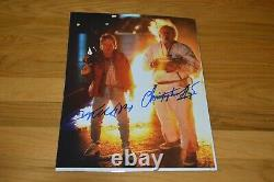 Michael J Fox Christopher Lloyd Signed 11x14 Back To Future with AUTOGRAPH LOA