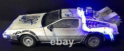Michael J Fox Christopher Lloyd Signed BACK TO THE FUTURE 115 DeLorean BAS LOA