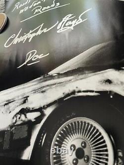 Michael J Fox Christopher Lloyd Signed BACK TO THE FUTURE 20x30 Photo Huge ACOA